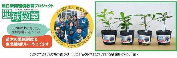 朝日新聞「地球教室」参加賞 ~ 福祉施設自主製品ご利用に感謝! ~