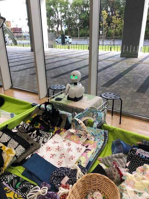 分身ロボット「オリヒメ」福祉ショップありがとうに登場!